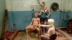 Femdom Revenge: Lorelei Lee and Mona Wales Punish Misbehaved Man