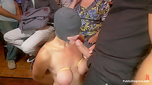 FIRST TIME ANAL!!! Big natural tits in bondage!!!