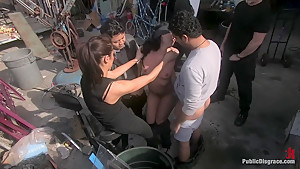 Julie Night - Fisted and Fucked in the Junkyard