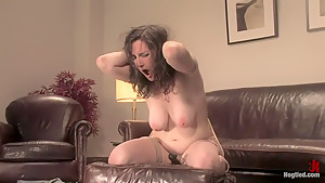 Casting Couch 6 - Natasha Dee gets wet from the smell of rope!