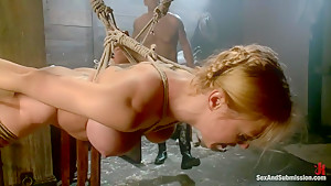 The Slave Auction: Darling Gets Ass Fucked in Strict Bondage!
