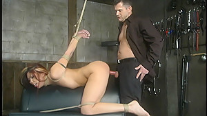 Crazy fetish xxx scene with horny pornstars Satine Phoenix and Chris Cannon from Dungeonsex