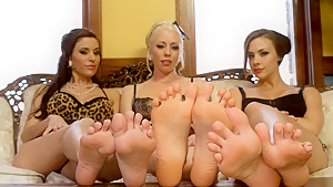 Horny fetish sex video with best pornstars Gia DiMarco, Chanel Preston and Lorelei Lee from Footworship