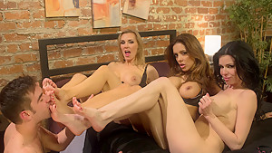 Incredible milf, fetish porn video with fabulous pornstars Francesca Le, Veronica Avluv and Tanya Tate from Footworship