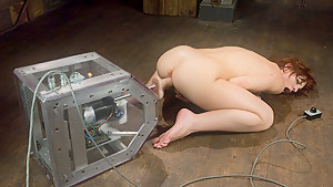 Hottest ebony, fetish adult movie with best pornstar Riley Shy from Fuckingmachines