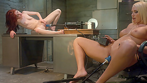 Best fetish, ebony sex movie with fabulous pornstars Jessi Palmer and Mellanie Monroe from Fuckingmachines