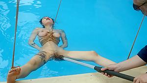 Amazing fetish xxx video with incredible pornstars Osada Steve and June Mizuna from Waterbondage