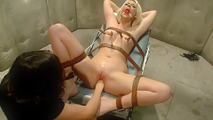 Horny fetish, lesbian porn scene with fabulous pornstars Courtney Taylor and Bobbi Starr from Whippedass