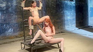 Best fetish, redhead xxx movie with horny pornstars Mia Gold and Elle Alexandra from Whippedass