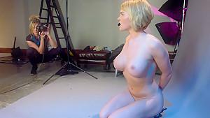 Fabulous fetish, lesbian porn scene with amazing pornstars Maitresse Madeline Marlowe and Krissy Lynn from Whippedass