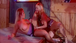 Crazy pornstars Angie Savage and Alanah Rae in hottest lesbian, cumshots porn clip