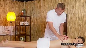 Big tits Milf fucks her masseur