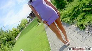 Allinternal brunette babe enjoys an anal creampie