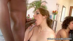 Best pornstars Misty Stone, Kiera King, Missy Stone in Fabulous Group sex, Interracial porn video