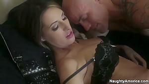 Derrick Pierce checks the flavor of Kortney Kane's fox