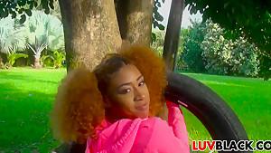 Big ass ebony Kendall Woods needs it harder