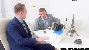 Young Courtesans - Courtesan for two businessmen