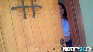 PropertySex Asian With Big Tits Brenna Sparks Fucks Landlord