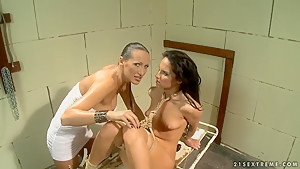 Bettina DiCapri & Mandy Bright in bondage fun