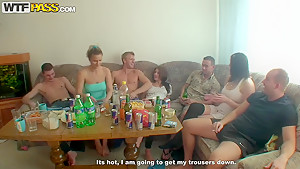 Hot college sex party with some chicks
