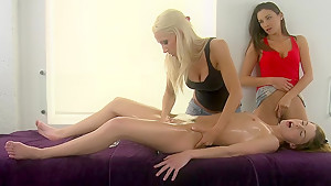 Lesbian style massage