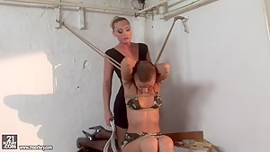 Kathia Nobili and C J babe tying of arms