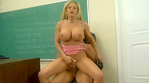 Hardcore lesson by a busty blonde teacher