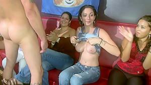 Girls having a blowjob party
