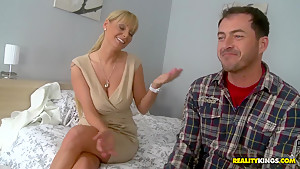 James Brossman is pretty comfortable with Shelia Grant's hands
