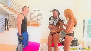 Bill Bailey, Sierra Saint and Sydnee Capri have group sex