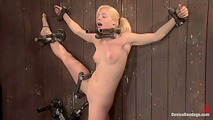 Ally Ann 19yr olds, and getting fucked by a machine.