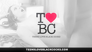 TeensLoveBlackCocks -   Petite Teen Rubbed Down by Big Black Cock