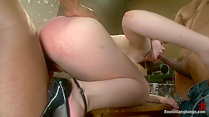 Hot Slut Pays off her Boyfriend's Debts with her Body