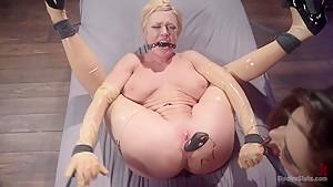 Electro Fuck Doll: Tough blonde babe submits to sadistic goddess!