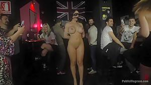 Big Tit Spanish Supermodel Bound & Dragged Through Madrid City Center