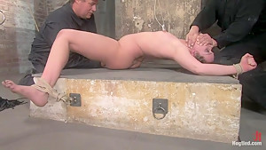Devaun in her first Hogtied shoot suffersthough a real time, no cuts, no breaks, brutal update.