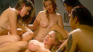 Amazing bdsm, lesbian adult video with horny pornstars Sofia Lauryn, Gia DiMarco and Akira Raine from Whippedass