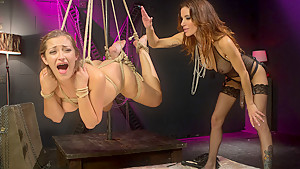 Crazy lesbian, fetish sex video with exotic pornstars Gia DiMarco and Dani Daniels from Whippedass