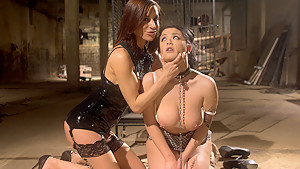 Incredible bdsm, lesbian xxx scene with best pornstars Katrina Jade and Gia DiMarco from Whippedass