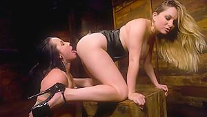 Horny fetish sex movie with best pornstars Aiden Starr and Alexa Von Tess from Whippedass
