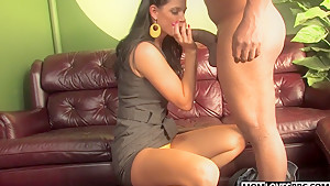 Son watching mom India Summer getting fucked by a BBC