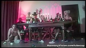 Exotic pornstars Alicia Rhodes, Keira Pharell, McKenzie Lee in Fabulous Latex, Stockings sex scene