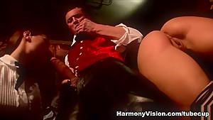 Incredible pornstars Claudia Rossi, Sharka Blue in Amazing Cumshots, Threesomes sex movie