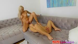 Crazy pornstars Cleo Vixen, Nina Elle in Horny Fake Tits, Blonde porn clip