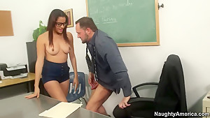 Alec Knight giving some sex lectures to Aria Arial