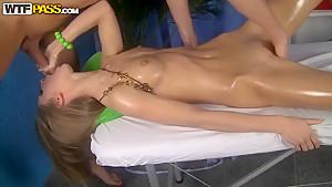 Amazing model Megan enjoys this sweet massage
