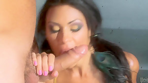 Cassandra Cruz oiles her body and gets pounded hard