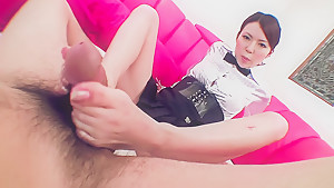 Fabulous Japanese model Rino Asuka in Incredible JAV uncensored Foot Job video