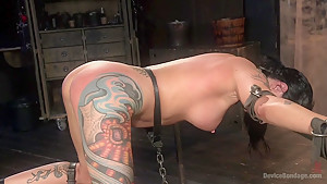Tattooed Masochist In Grueling Bondage, Tormented and Orgasm Overload!!